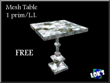 Lok's Mesh End Table - Free Low Prim Furniture