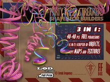 [FFBox] 40x Party Paper Streamers Set {Full Perm} for Builders