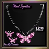 Virtual Impressions Darcy Butterfly Gem Set-Pink Abalone