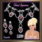 Virtual Impressions Elizabeth Gem Set in Diamonds & Rubies