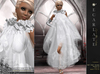 **Soldé/Sale Price** Calisse - White -  Dress Gown Formal - Robe