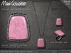 Necklace - Silver Drop Pendant - Pink Agate