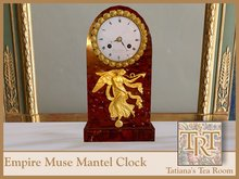 TTR-French Empire Muse Mantel Clock