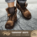 *REDGRAVE* Survivor-Boots Leather -Brown-