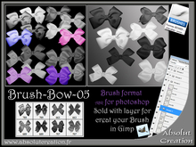 Brush bow 05 photoshop + PSD