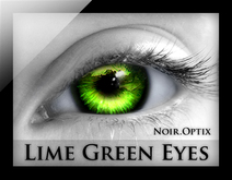 NoirOptix - Lime Green Eyes (3 Sizes)