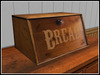 RE Old Wood Bread Box - One Prim - Kitchen/Cafe Decor