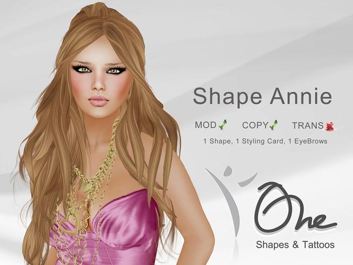 ::One Shapes:: [Annie Shape] DEMO