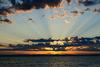 Ocean Sunrise Privacy Screen 20x20 Alpha(boxed)