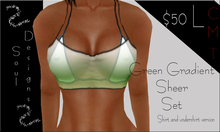 SD Green gradient sheer set