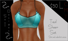 SD Teal Sheer Set