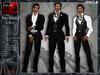 iNEDIT-Formal005 *Patrick* Black Suit for Men. Business, Formal or Bridal