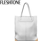 Fleshtone :: Lana Leather Tote [White]