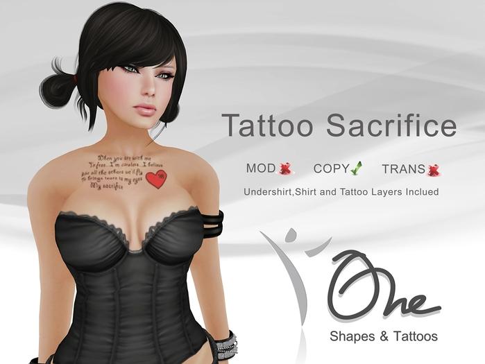 ::One Tattoos:: [Tattoo Sacrifice]