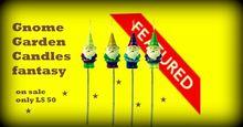 Gnome Garden Candles tagfantasy -