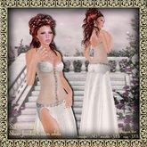 SLC Couture Sheer Jeweled Gown white (Belleza-Slink-Omega-Maitreya)