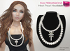 %50SUMMERSALE Full Perm Mesh Pearl Necklace with cross