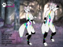 Raawr_Rainbow_White_Foxy