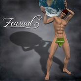 """""""Atlas"""" - 3D sculptie statue of a nude man by Zensual Sculpture - sculpty & sculpted art"""