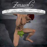 """""""Mesa"""" - 3D sculptie statue of a nude man by Zensual Sculpture - sculpty & sculpted art"""