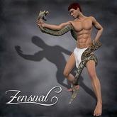 """""""Serpento"""" - 3D sculptie statue of a nude man by Zensual Sculpture - sculpty & sculpted art"""