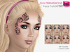 %50SUMMERSALE Full Perm Female Face Painting Tattoo Set - Bake on Mesh BoM Ready SLUV