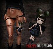 dl:: Creepy Doll Legband