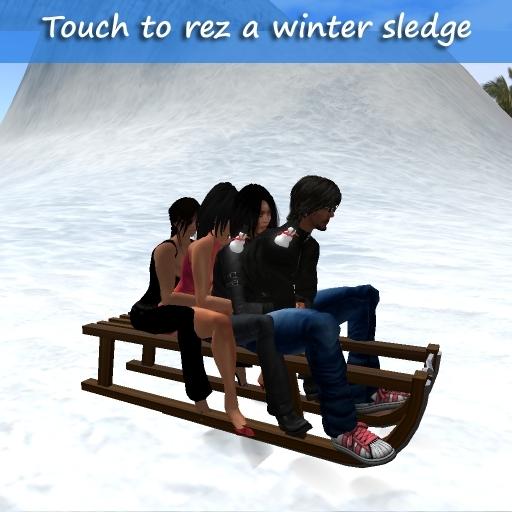 4 seater Winter Sled + Adjustable Rezzer