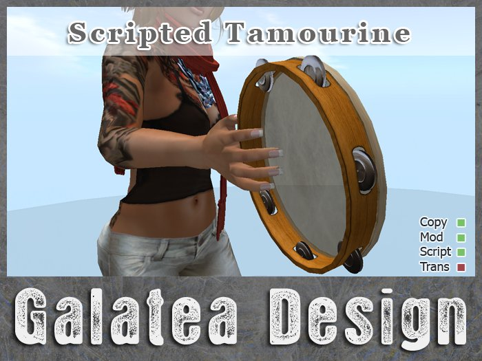 Tambourine with Sound and Animation