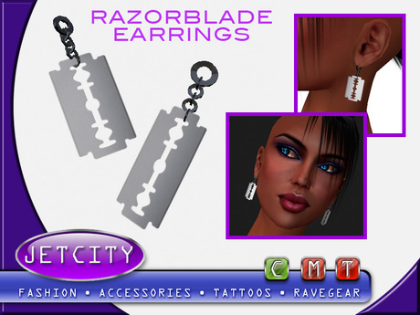 JETCITY -Razor Blade Earrings