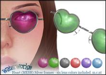 WaterWorks UV Heart Sunglasses - Silver Frames