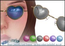 WaterWorks UV Heart Sunglasses - Gold Frames