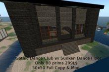 Large Dance Club w/ Goth Theme