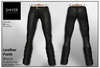 Shiver - Black Leather Pant with Belt - sculpted Leg