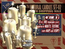 [FFBox] 25x Natural Candles Set-02 {Full Perm} for Builders