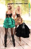 KIM- Party  Mesh Skirt-Black