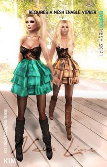 KIM-Mesh Party Skirt- DEMO