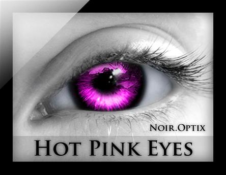 NoirOptix - Hot Pink Eyes (3 Sizes)