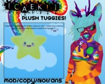 Plush Tuggies - Tiger - Purple