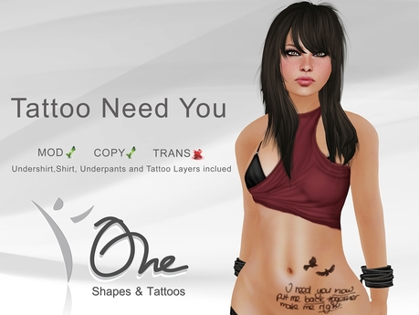 ::One Tattoos:: [Tattoo Need You] PROMO
