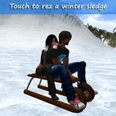 2 seater Winter Sled + Adjustable Rezzer