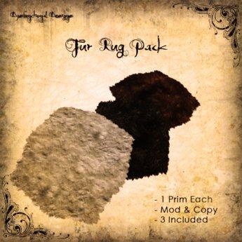 [DDD] 3 Fur Rug Pack