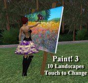 Paint! 3 - Spring Landscapes  (Animated Artist Pose at Easel)