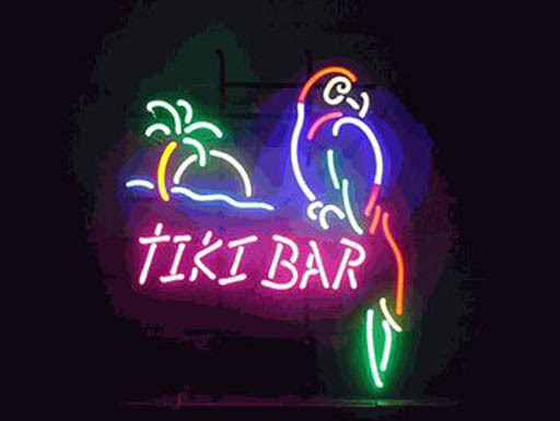 Neon Tiki Bar Sign