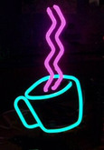 Neon Coffee Cup Sign
