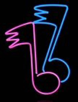Neon Music Notes Sign