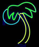 Neon Palm Tree Sign