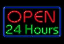 Neon Open 24h Sign