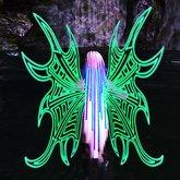 Green Rave Wings by Aqua Vitae