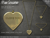 Necklace - 'I Love You' Heart - Gold Pendant